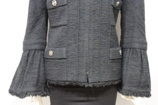 Chanel Cocktail Bell Silk Neck Military Jacket Image 9