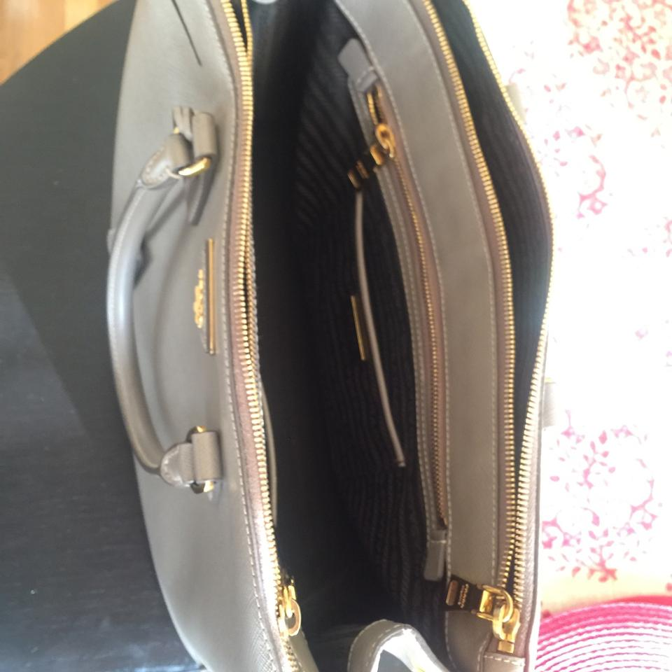 Leather Satchel Hand Prada Prada Hand Grey nI7aq1zwxT
