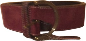 Coach Burgundy Coach Belt