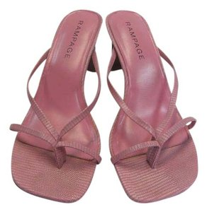 Rampage Size 8.50 M Reptile Design Very Good Condition Pink, Sandals