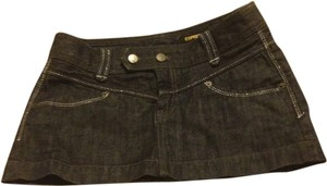 Express Mini Skirt Dark blue Denim