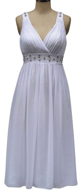 Preload https://item4.tradesy.com/images/white-chiffon-embellished-pleated-goddess-v-neck-mid-length-formal-dress-size-12-l-157393-0-0.jpg?width=400&height=650