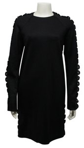 Chloé short dress Black Lanvin Paris Women Wool Cocktail on Tradesy