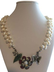 Freshwater Pearl Necklace with accent pendant