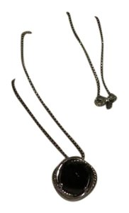 David Yurman David Yurman Infinity Collection - Medium Black Onyx Pendant Necklace with 18