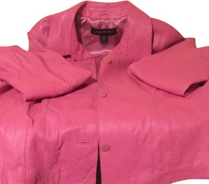 Lane Bryant Pink Leather Blazer