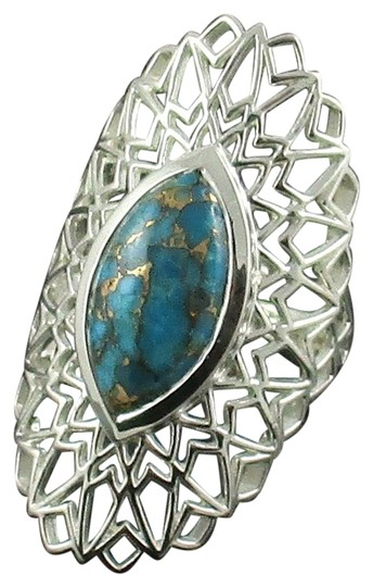 Preload https://img-static.tradesy.com/item/15739900/himalayan-gems-turquoise-marquise-gemstone-sterling-silver-mesh-frame-size-8-ring-0-2-540-540.jpg