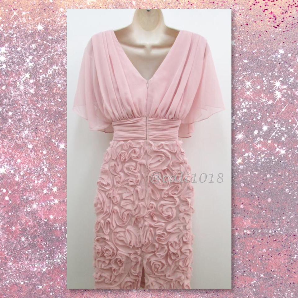 JS Collections Light Pink Chiffon Butterfly Sleeve Embellished A ...