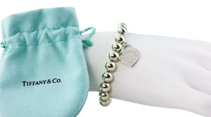 Tiffany & Co. * Tiffany & Co Heart Silver Pearl Bead Bracelet