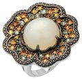 Sima K Moonstone/Sapphires 11.69ct and Sterling Floral Ring Sima K Moonstone/Sapphires 11.69ct and Sterling Floral Ring Image 1