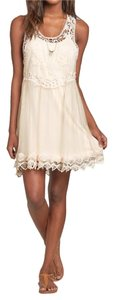 Hollister short dress Cream Vintage Embroidered Lace on Tradesy