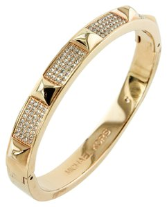 Michael Kors * Michael Kors Rose Golden Pave Pyramid Bangle