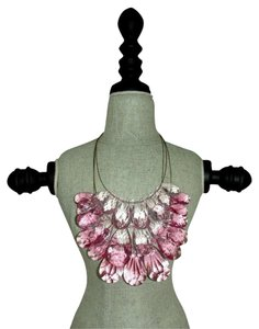 Joan Rivers Large Bold Statement Three Tier Pink Necklace