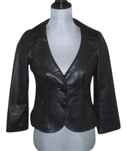 Cynthia Steffe Designer Chic Leather Leather Jacket
