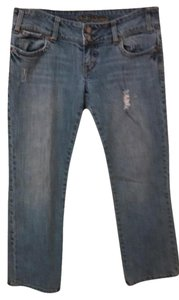 American Eagle Outfitters Distressed Boot Cut Jeans-Light Wash