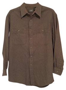 L.L.Bean Button Down Shirt Green