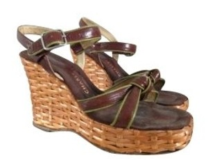 Charles Jourdan Brown Wedges