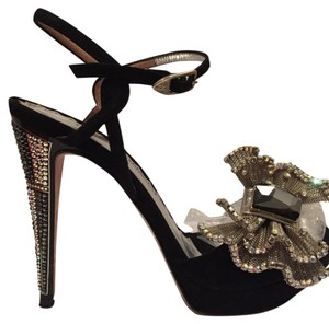 Francesco Sacco Embellished Black Platforms