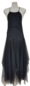 Masquerade Sequins Tulle Keyhole Dress