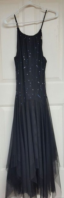 Masquerade Sequins Tulle Keyhole Dress Image 2