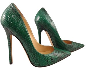 Jimmy Choo Anouk Green Pumps