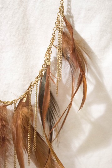 Urban Outfitters Multi-Feather Necklace
