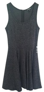 Express short dress Black Gray on Tradesy