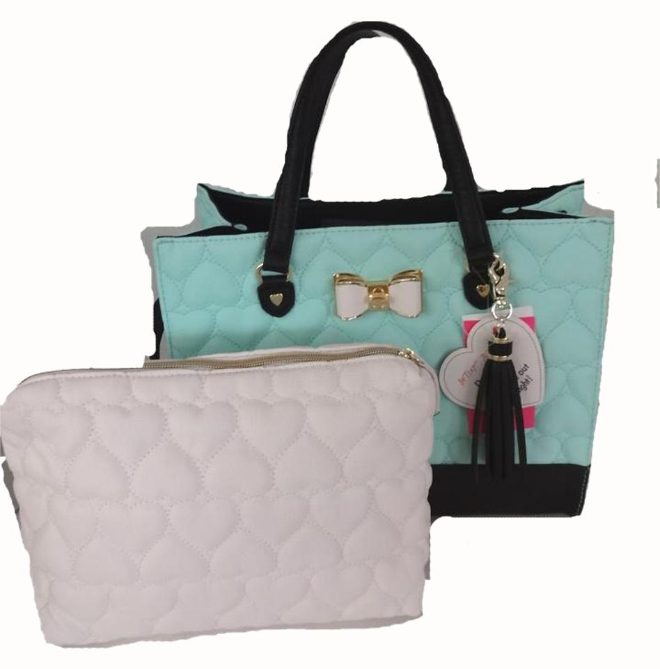 Betsey Johnson In A Quilted Heart Cross Body Satchel in mint ...