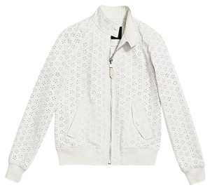 Coach Bomber Eyelet Military Jacket