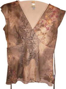 L.E.I. Artsy Art Deco Top Multi-color