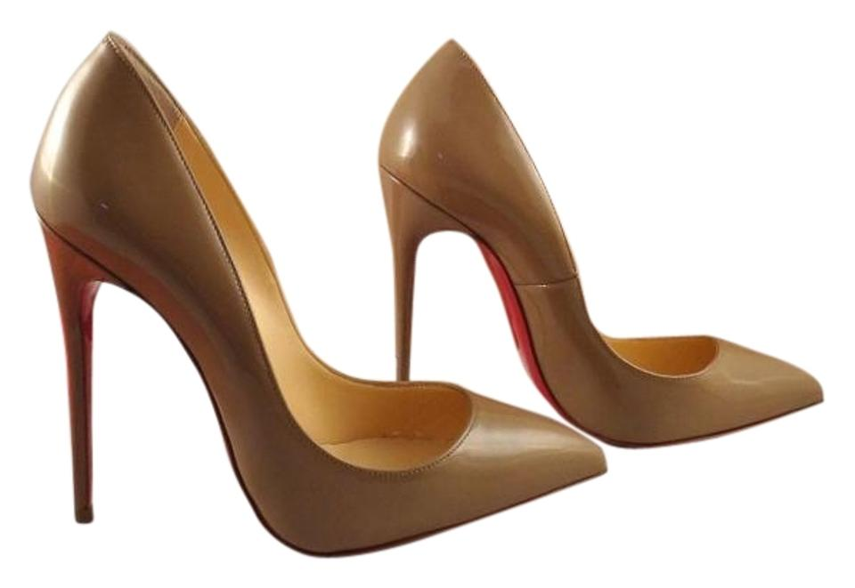 Christian Louboutin Patent Beige Pigalle Follies 120 Patent Louboutin Leather Dune Nude 35.5 Pumps eaf0d2