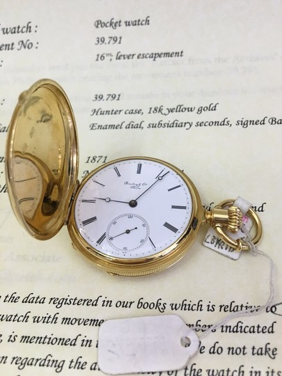 Patek Philippe Patek Philippe 18k Yellow Gold Pocket Watch 39.791 Image 4