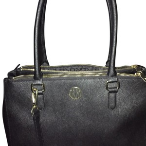 DKNY Satchel in Black With Gold Trimming