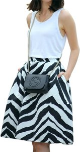 Express Vintage Modern Skirt Black & White Zebra