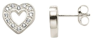 Thomas Sabo Open Heart Sterling Silver Earrings with Zirconias