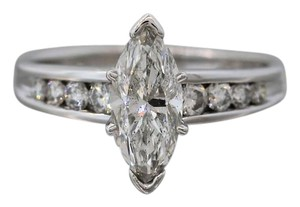 Lovely 1.78ctw Marquise Diamond 14K White Gold Solitaire Accent Engagement Ring