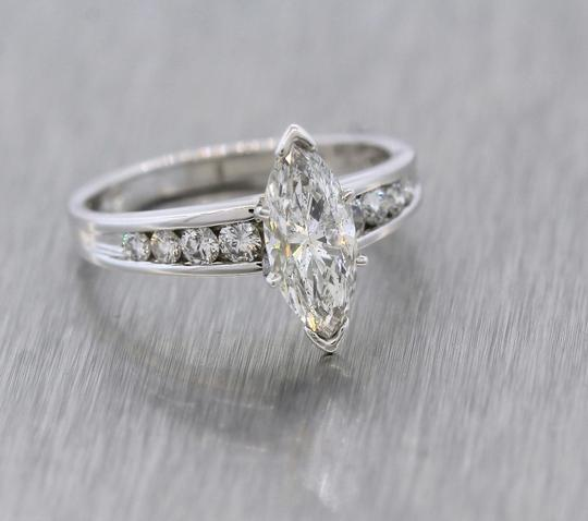 Other Lovely 1.78ctw Marquise Diamond 14K White Gold Solitaire Accent Engagement Ring Image 4
