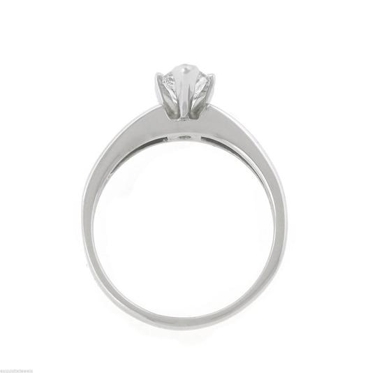 Other Lovely 1.78ctw Marquise Diamond 14K White Gold Solitaire Accent Engagement Ring Image 5