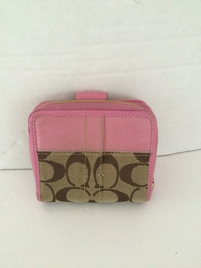 Coach SIGNATURE C ZIP AROUND SNAP MEDIUM WALLET PINK Image 2