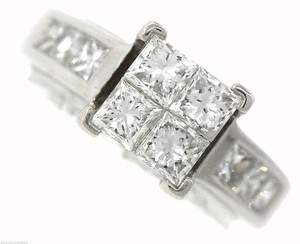 Other Stunning Ladies 14K White Gold 1.60ctw Diamond Invisible Set Engagement Ring