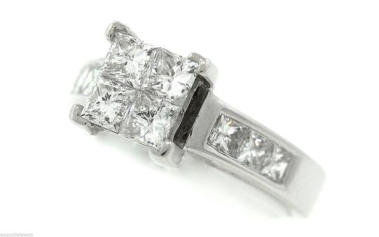 Other Stunning Ladies 14K White Gold 1.60ctw Diamond Invisible Set Engagement Ring Image 1