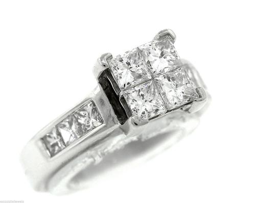 Other Stunning Ladies 14K White Gold 1.60ctw Diamond Invisible Set Engagement Ring Image 2