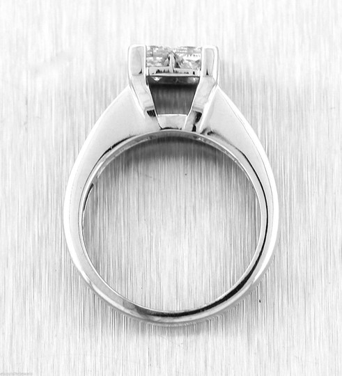Other Stunning Ladies 14K White Gold 1.60ctw Diamond Invisible Set Engagement Ring Image 3