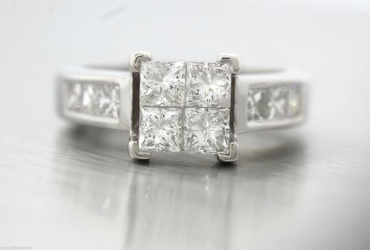 Other Stunning Ladies 14K White Gold 1.60ctw Diamond Invisible Set Engagement Ring Image 4