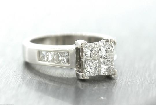 Other Stunning Ladies 14K White Gold 1.60ctw Diamond Invisible Set Engagement Ring Image 5