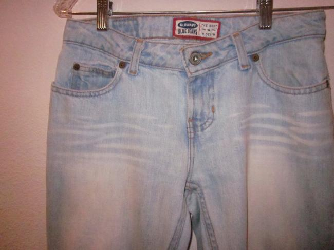 Old Navy Short Boot Cut Jeans-Light Wash