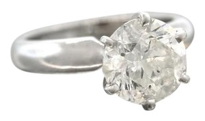 Stunning 3.00ct Round Brilliant Diamond 18K White Gold Solitaire Engagement Ring