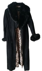 Moda International Goth Vintage Suede Leopard Fur Coat