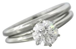 Tiffany & Co. Tiffany & Co. Platinum 0.96ct Diamond Solitaire Engagement Ring Wedding Band