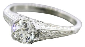 Other Antique Art Deco Handcrafted 0.65ct Diamond 20K White Gold Engagement Ring